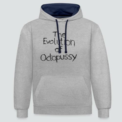Evoctopussy png - Kontrast-Hoodie