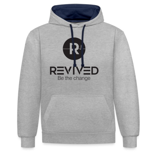 Revived be the change - Contrast Colour Hoodie