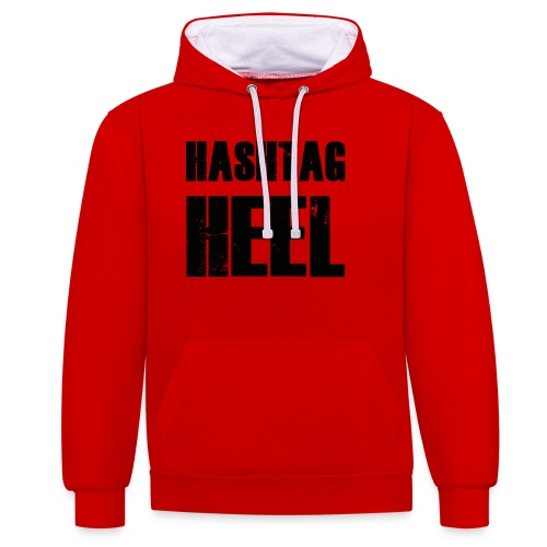 hashtagheel - Contrast Colour Hoodie