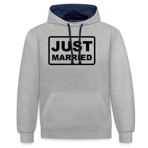 Just Married - Kontrast-Hoodie