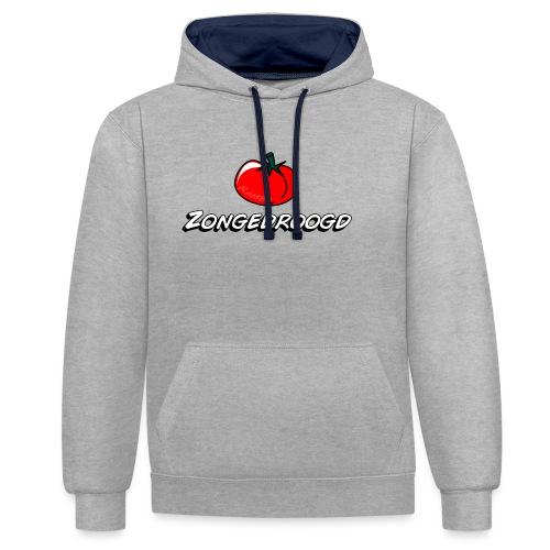 ZONGEDROOGD - Contrast hoodie