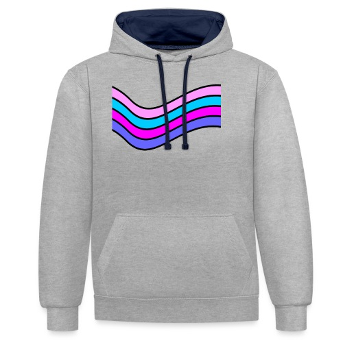 Wave - Contrast Colour Hoodie