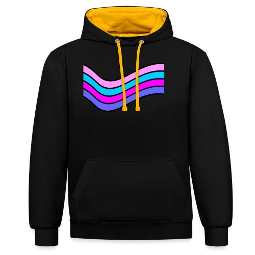 Wave - Contrast Colour Hoodie