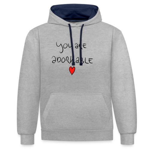 adorkable - Contrast Colour Hoodie