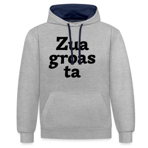 Zuagroasta - Kontrast-Hoodie
