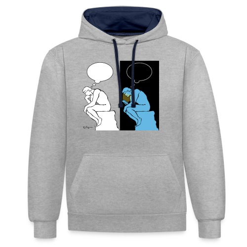 The Thinker - Contrast Colour Hoodie