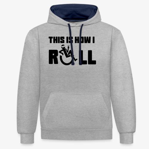 Zo rol ik in mijn rolstoel 006 - Contrast hoodie