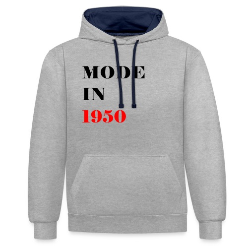 MODE IN 150 - Contrast Colour Hoodie