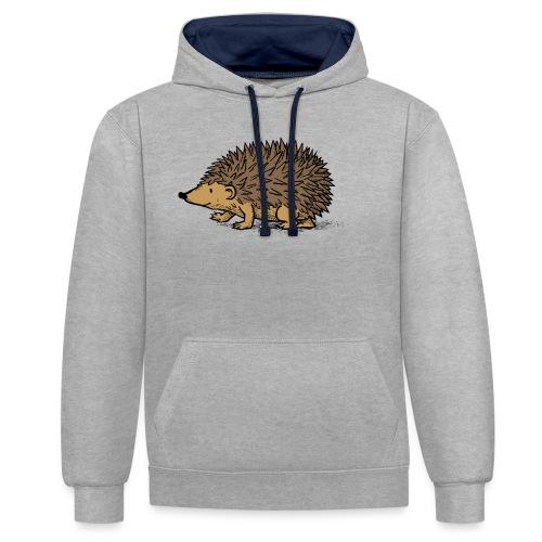 egel illustratie - Contrast hoodie