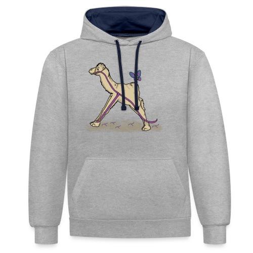 Lambda-Camel T-Shirt Männer - Kontrast-Hoodie