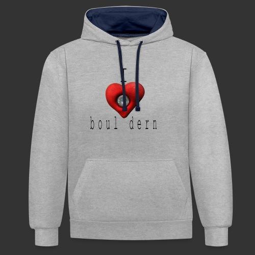 I love bouldern - Kontrast-Hoodie