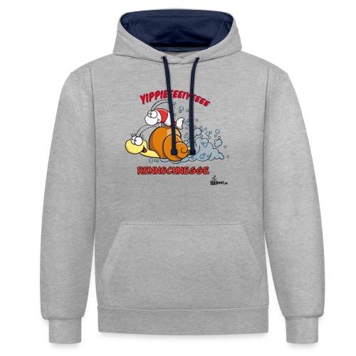 rennschnegge - Kontrast-Hoodie