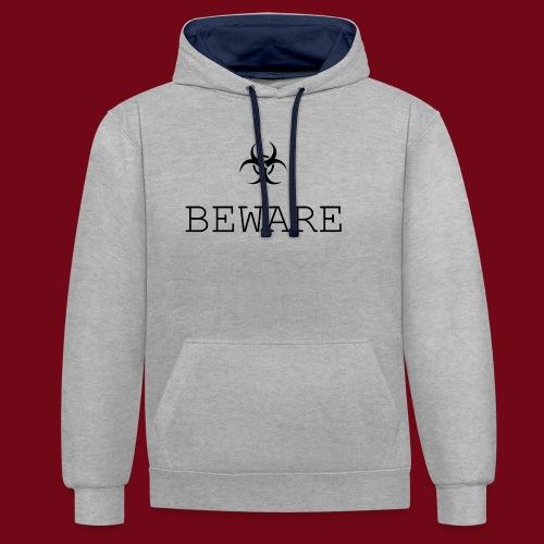 beware - Kontrast-Hoodie