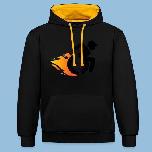 Roller met vlammen 016 - Contrast hoodie