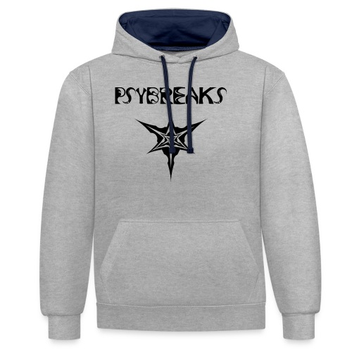 Psybreaks visuel 1 - text - black color - Sweat-shirt contraste
