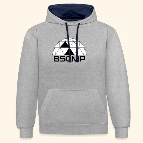 bscmp black - Contrast hoodie