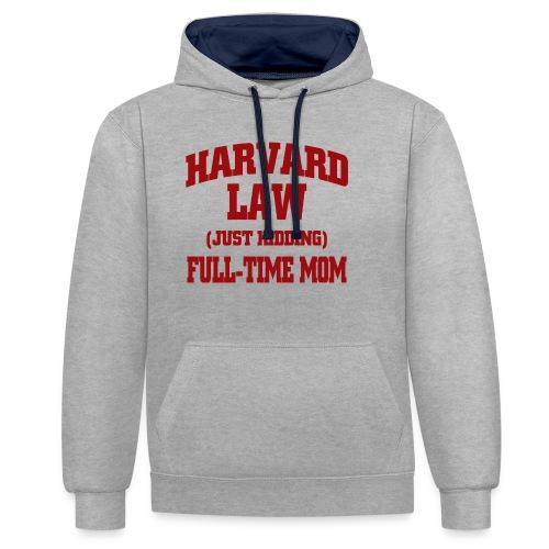 harvard law just kidding - Bluza z kapturem z kontrastowymi elementami