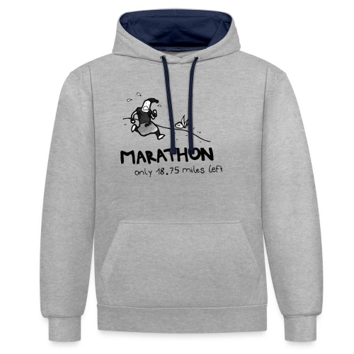 marathon-png - Bluza z kapturem z kontrastowymi elementami