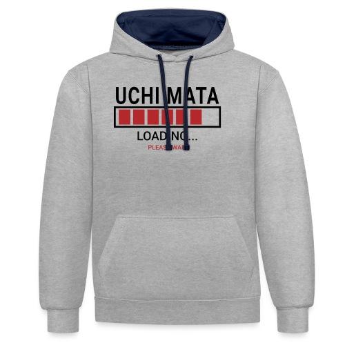 Uchi Mata loading... pleas wait - Bluza z kapturem z kontrastowymi elementami