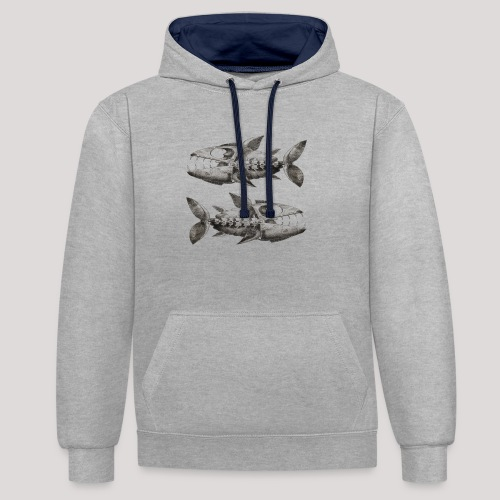 FishEtching - Contrast Colour Hoodie