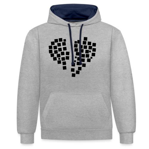 heartpixel - Kontrast-Hoodie