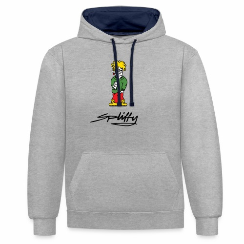 spliffy2 - Contrast Colour Hoodie