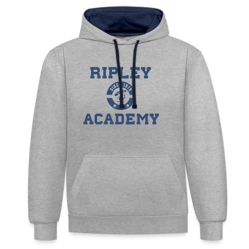 RIPLEY BLUE - Sudadera con capucha en contraste