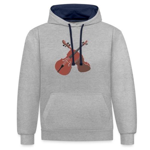 Cello - Contrast Colour Hoodie
