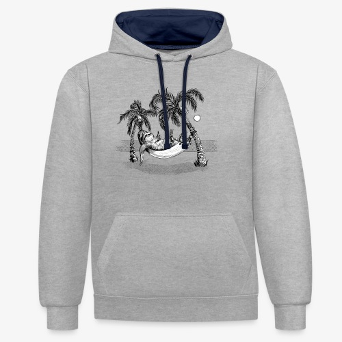 Sloth - Contrast Colour Hoodie