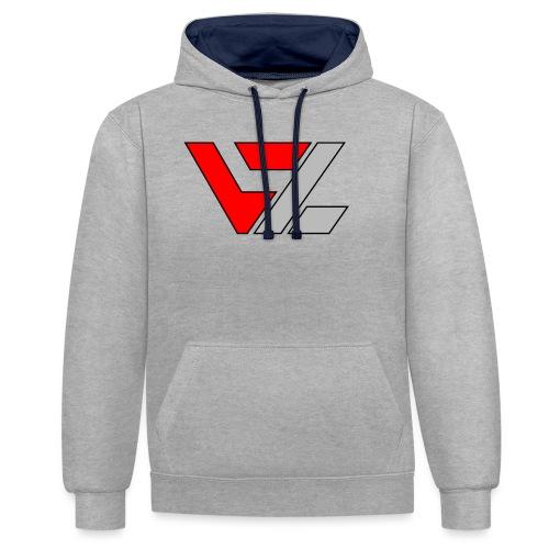 vusionZ | Peace - Kontrast-Hoodie