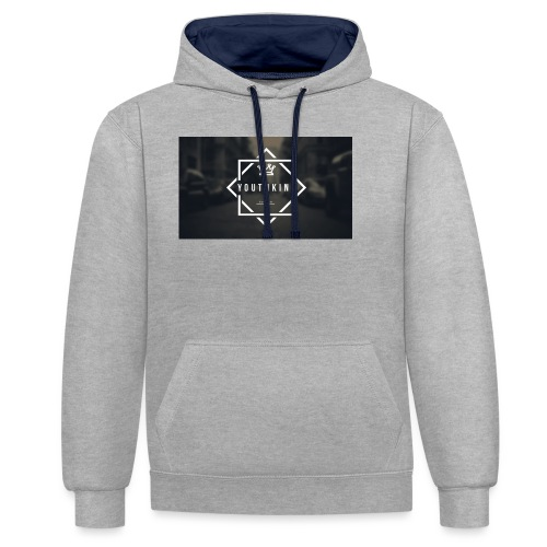 Youth King logo - Contrast Colour Hoodie