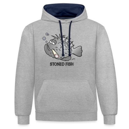 stonedfish - Kontrast-Hoodie