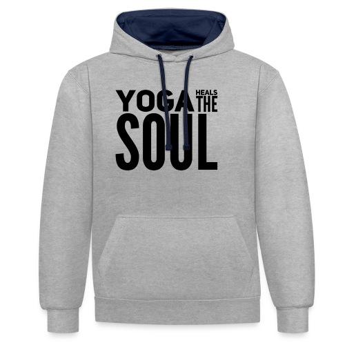 yogalover - Contrast hoodie