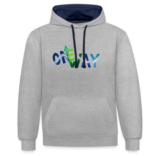 One Way - Kontrast-Hoodie