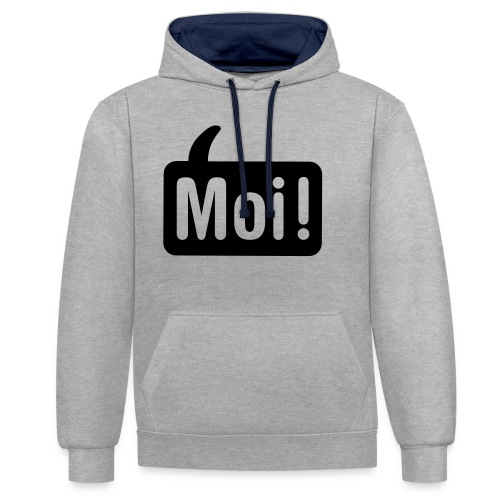 hoi shirt front - Contrast hoodie