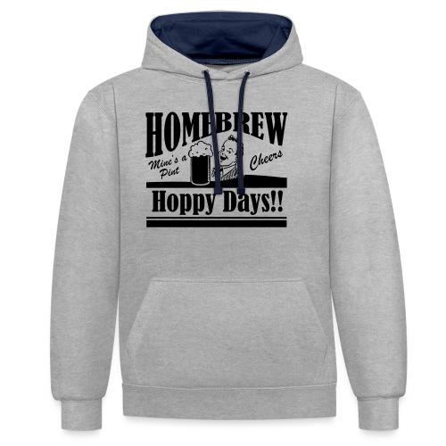 Hoppy Days - Contrast Colour Hoodie
