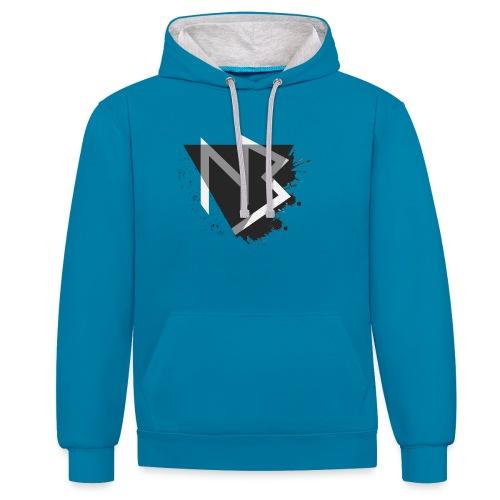 T-shirt NiKyBoX - Felpa con cappuccio bicromatica