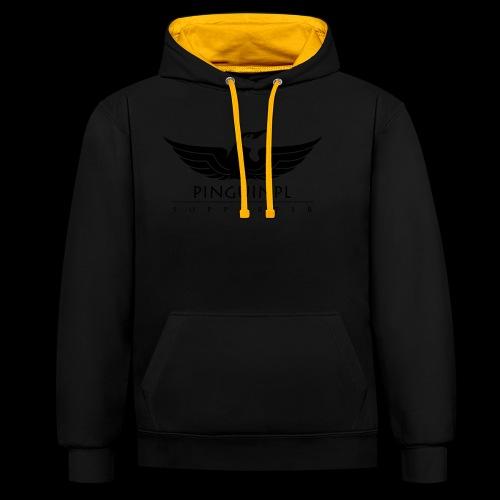 zwolennikiem Blackline - Bluza z kapturem z kontrastowymi elementami