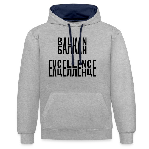 Balkan Excellence vert. - Contrast Colour Hoodie