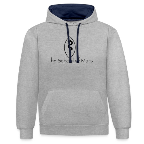 SoM Crest (Black) w/ Text - Contrast Colour Hoodie