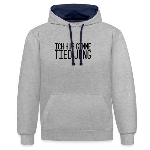 Ginne tied - Contrast hoodie