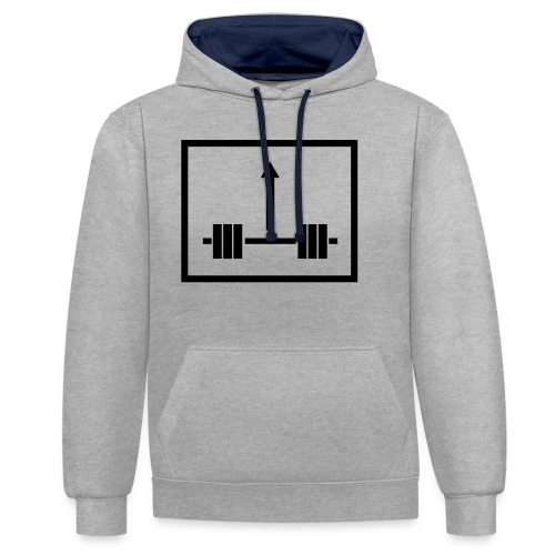 Lift Weight Up - Kontrast-Hoodie