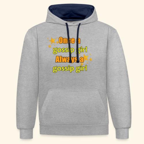 Gossip Girl Gossip Girl Shirts - Contrast Colour Hoodie