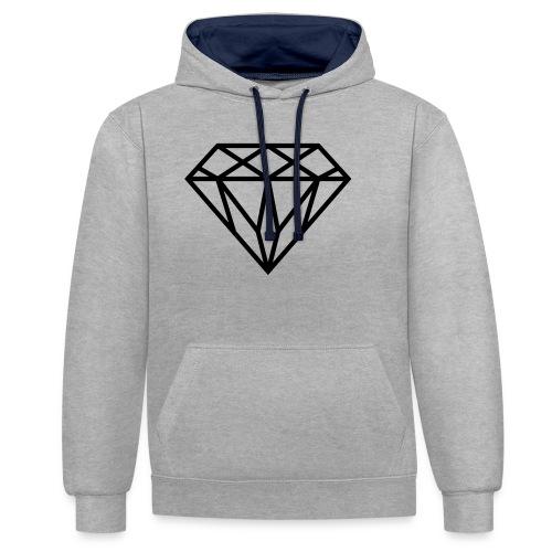 Diamond Graphic // Diamant Grafik - Kontrast-Hoodie