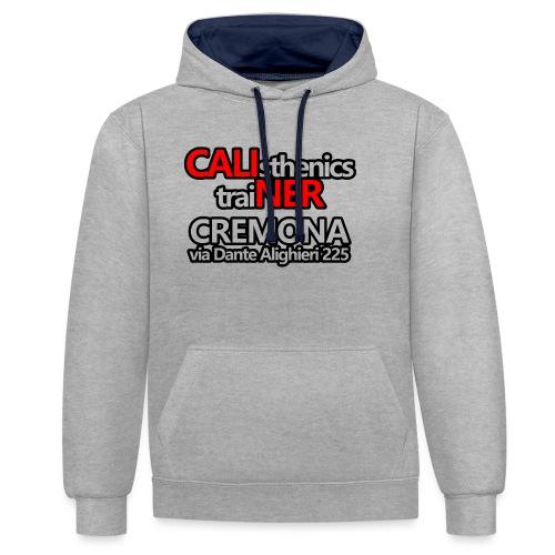 Caliner Cremona T-shirt - Felpa con cappuccio bicromatica