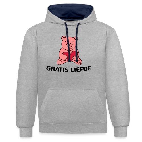 Grappige Rompertjes: Gratis liefde - Contrast hoodie