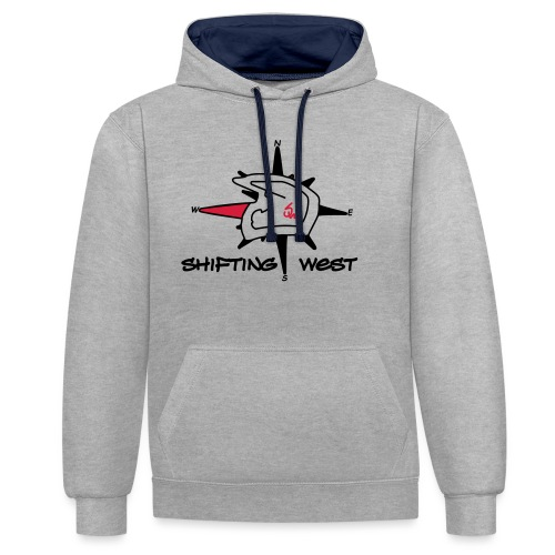 Shifting West Logo vector - Contrast hoodie