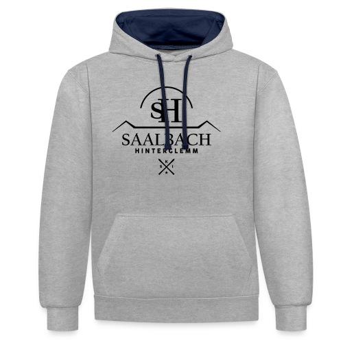 Saalbach embleem SKI-X - Contrast hoodie