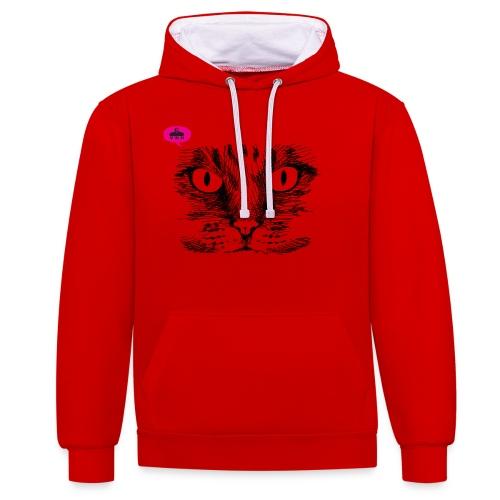 kattegezicht vdh - Contrast hoodie