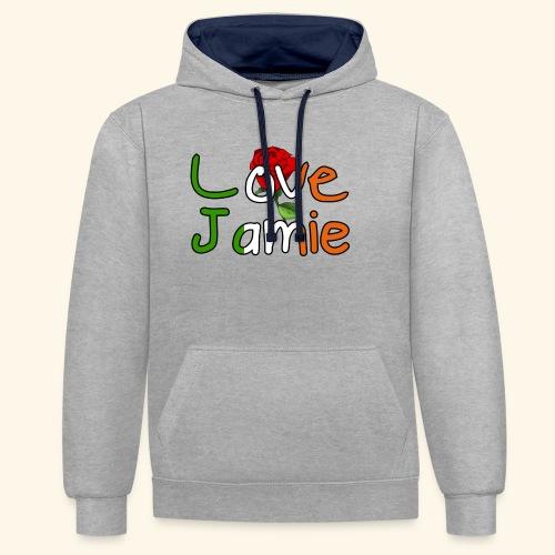 Jlove - Contrast Colour Hoodie